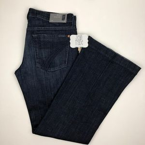 NWT 7 for all mankind dojo flare jeans 31x32.5